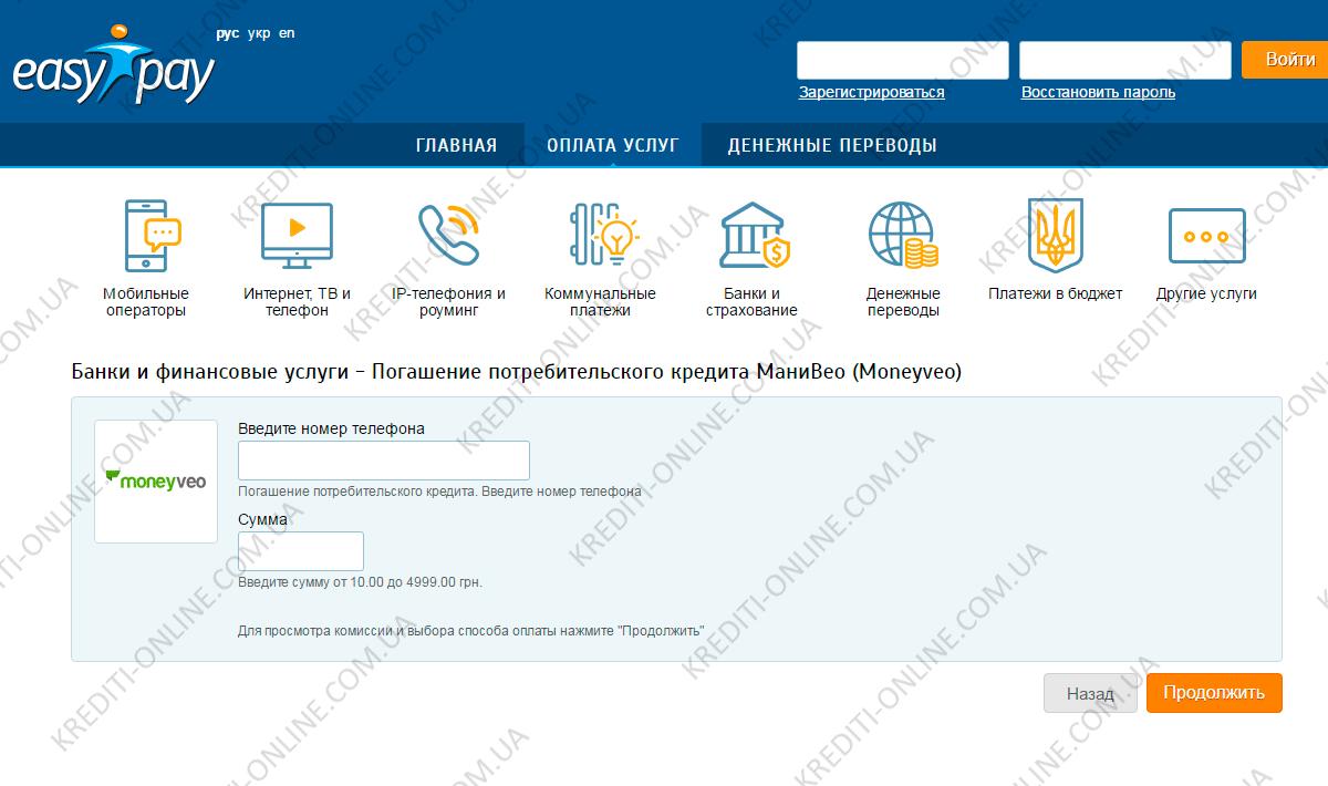 Кредит на карту 15000 грн на год